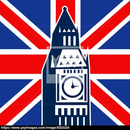 London Big Ben British Union Jack Flag Image