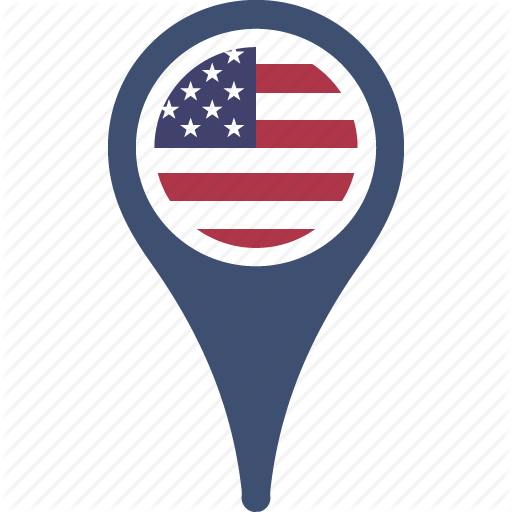 Country, Flag, Map, Pin, States, The, United Icon