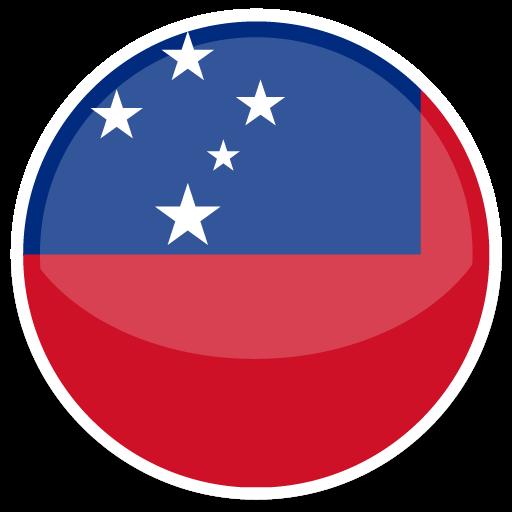 Samoa, Flag, Flags Icon Free Of Round World Flags Icons