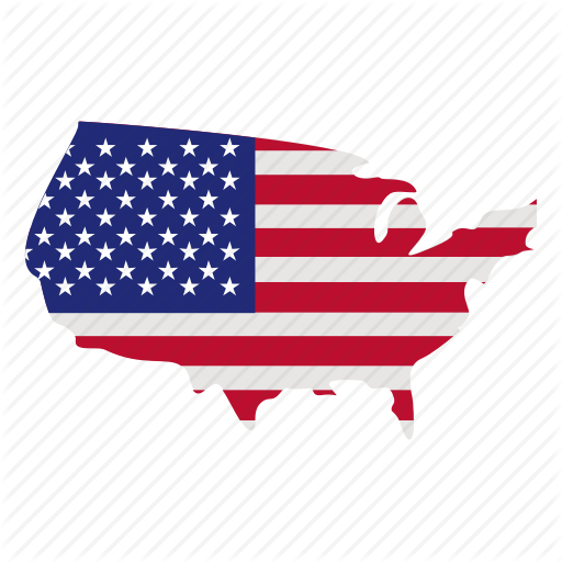 Flag Of The United States, Map, Map Marker, United States, Usa Icon