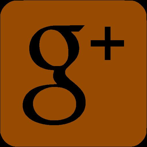 Brown Google Plus Icon