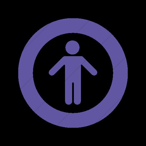 Simple Purple Foundation Universal Access Icon