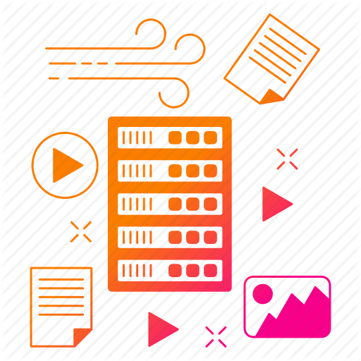 Big Data, Data, Database, Server, Storage, Unstructured Icon