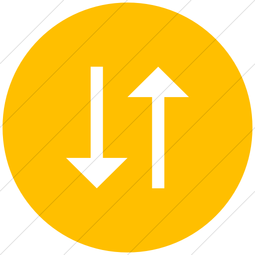 Flat Circle White On Yellow Classic Arrows Two