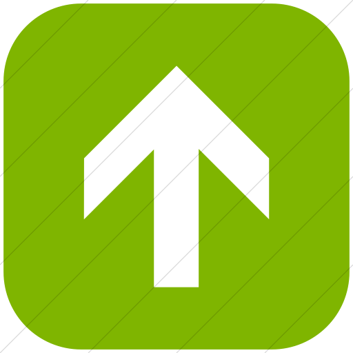 Flat Rounded Square White On Green Aiga Up Arrow Icon