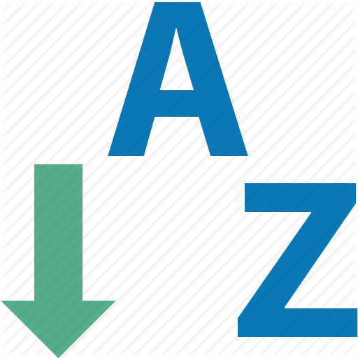 Acsending, Assort, Descending, Order, Sort A Z, Sorting, Up Down Icon