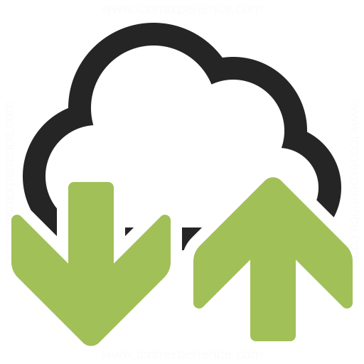 Cloud Updown Icon Iconexperience