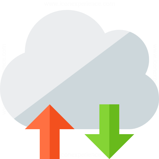 Iconexperience G Collection Cloud Updown Icon