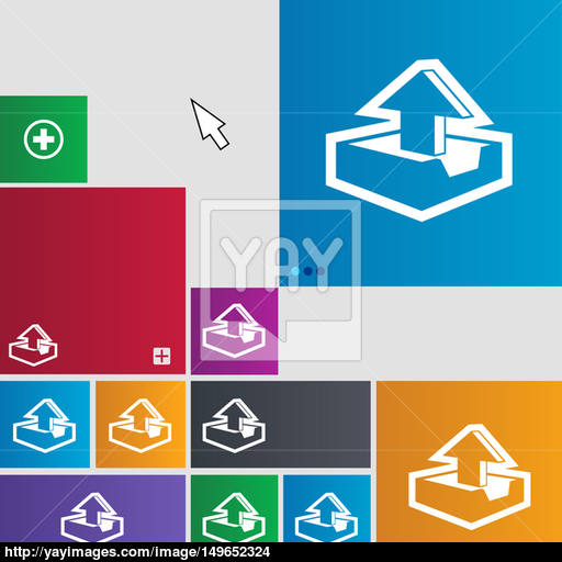 Upload Icon Sign Buttons Modern Interface Website Buttons