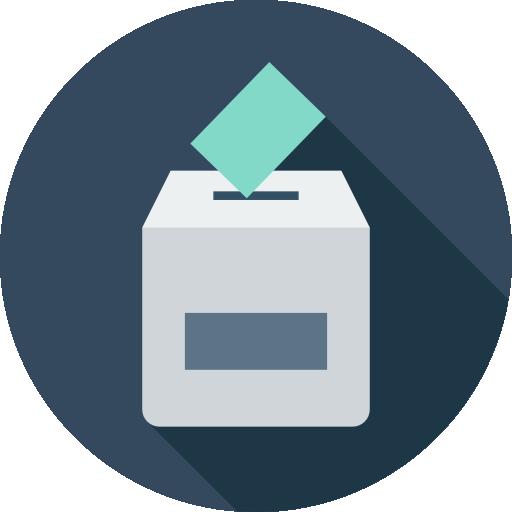 Election Icons, Flag, Triangular, Pole, People, Man, Election