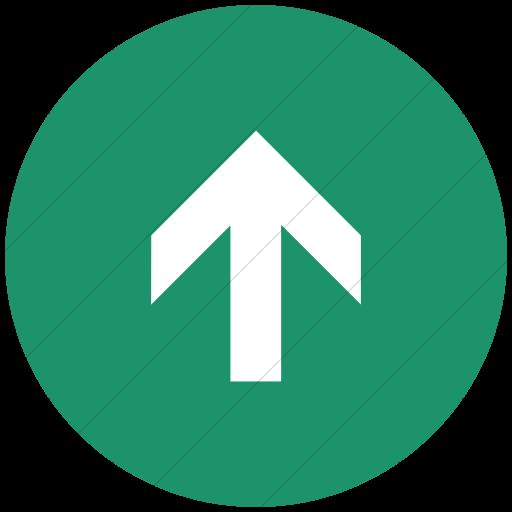 Flat Circle White On Aqua Aiga Up Arrow Icon