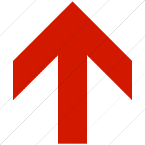 Simple Red Aiga Up Arrow Icon