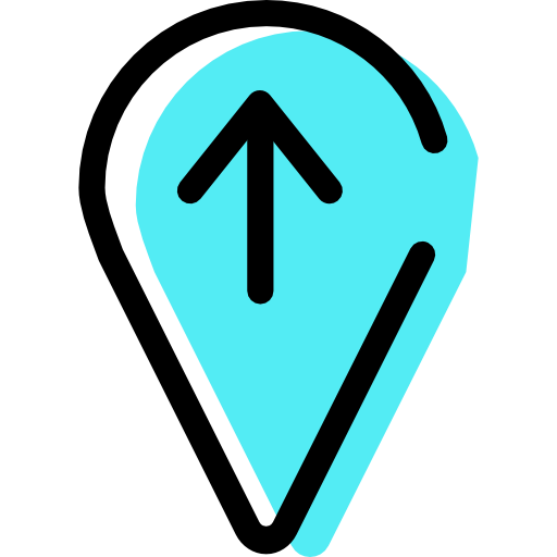 Placeholder, Mapmarker, Up, Arrow Icon Free Of Color Interaction