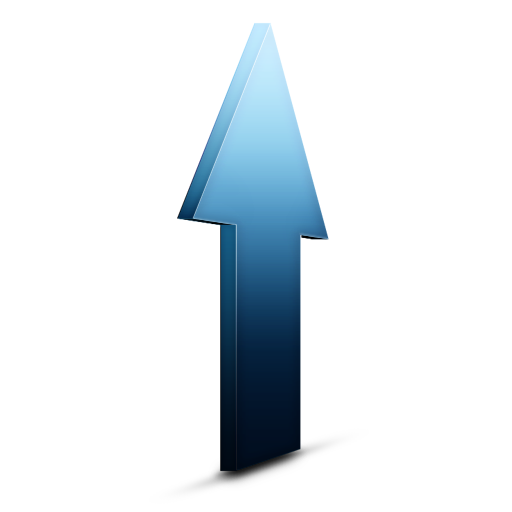 Blue Up Arrow Icon Download Free Icons
