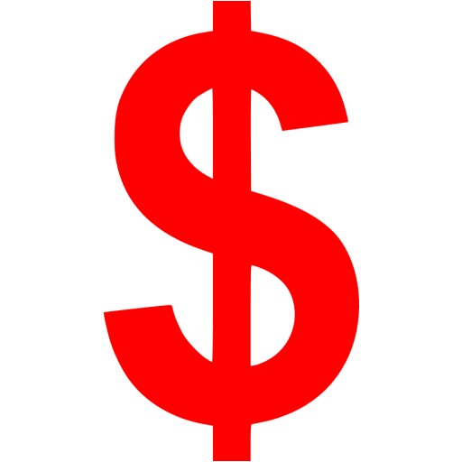 Red Us Dollar Icon