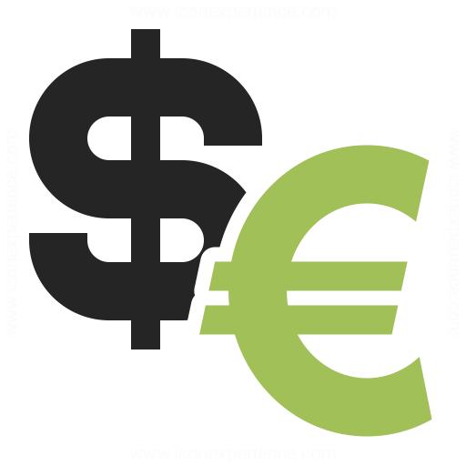 Symbol Dollar Euro Icon Iconexperience