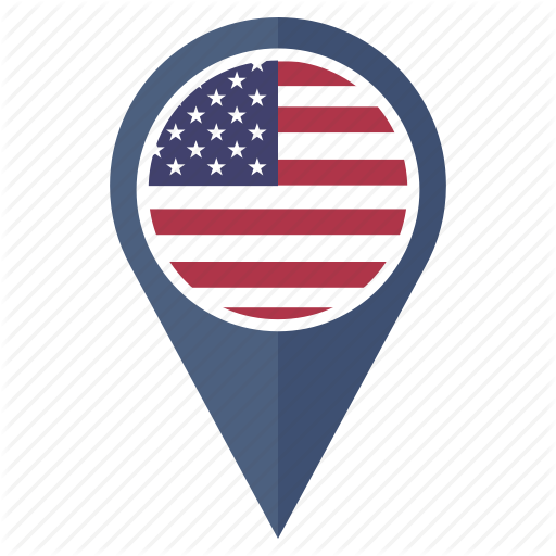 Country, Flag, Location, Navigation, Pin, The United States Icon