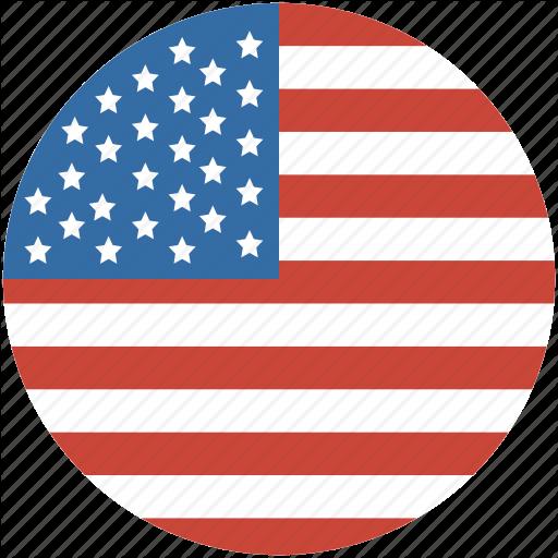 America, Circle, Flag, States, United, Us Icon
