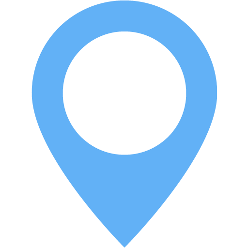 Tropical Blue Map Marker Icon