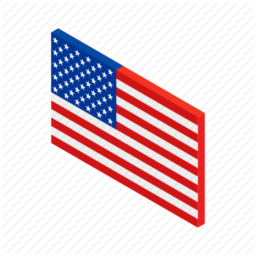American, Flag, Independence, Isometric, July, Star, Usa Icon