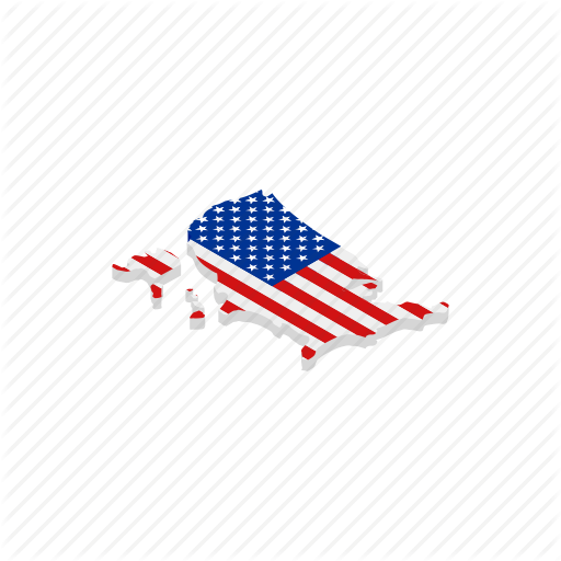American, Geographic, Independence, Isometric, July, Map, Usa Icon