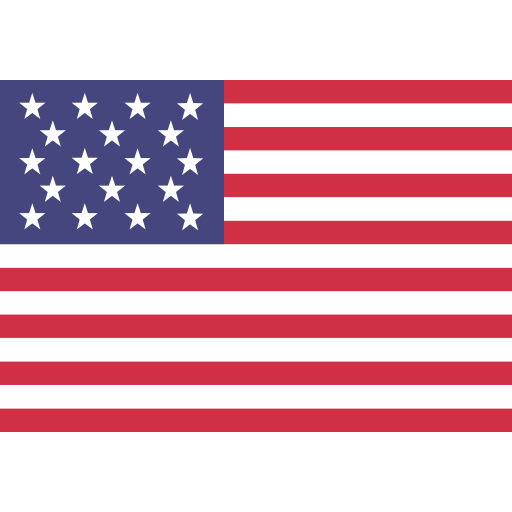 U S A, Flat, National Flag Icon With Png And Vector Format