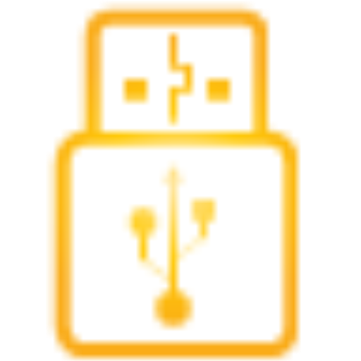 Yellow, Usb, Stick Icon