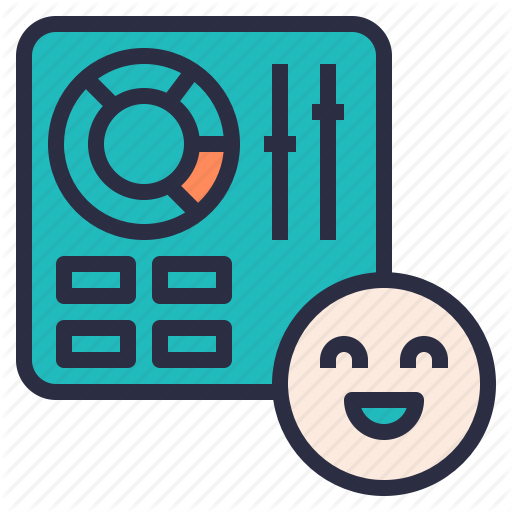 Control, Customer, Easy, Happy, Panel, Use, User Icon