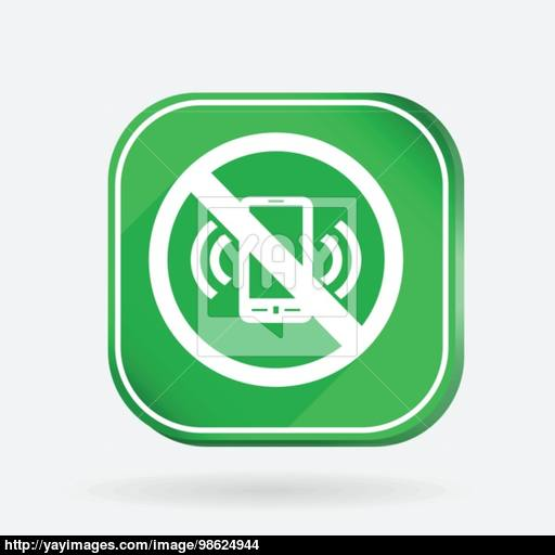 Forbidden To Use Mobile Phone Color Square Icon Vector