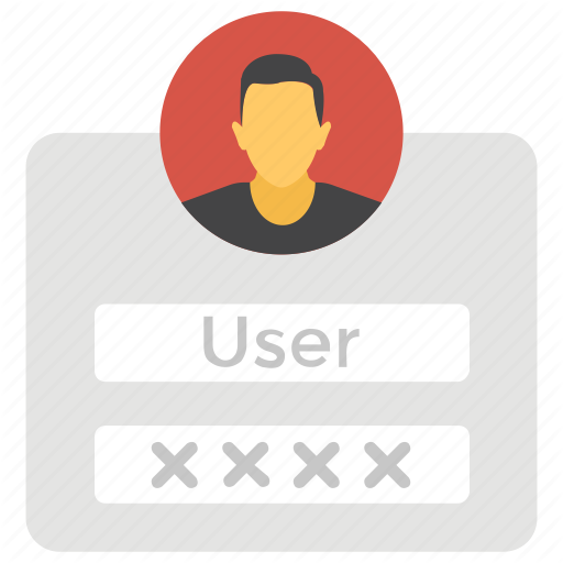 Authentication, Mobile Login, Password, User Login, Username Icon