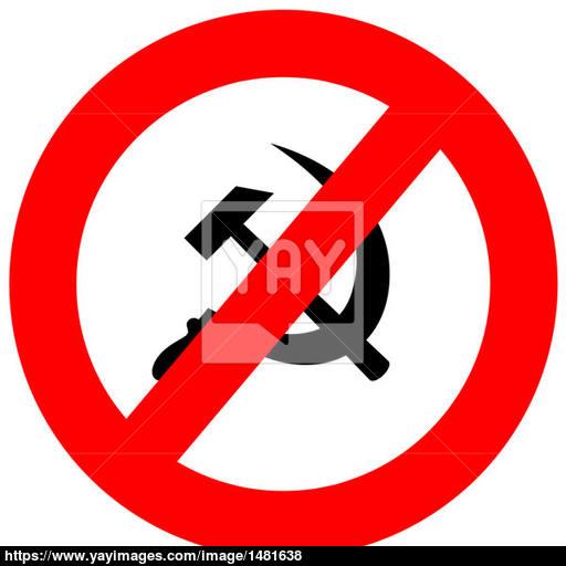 Anti Communism Sign Image