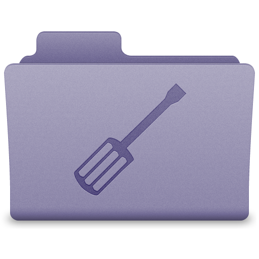 Purple Utilities Folder Icon