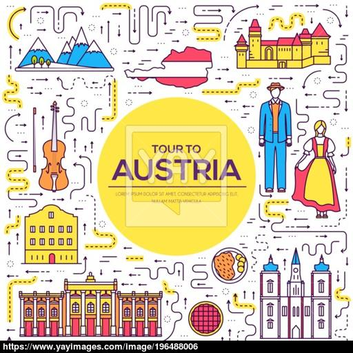 Country Austria Travel Vacation Guide Of Goods, Place And Feature