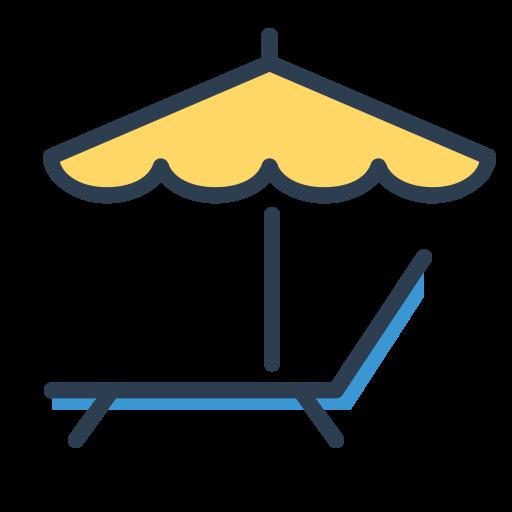 Enjoy, Relax, Resolutions, Rest, Sleep, Umbrella, Vacation Icon