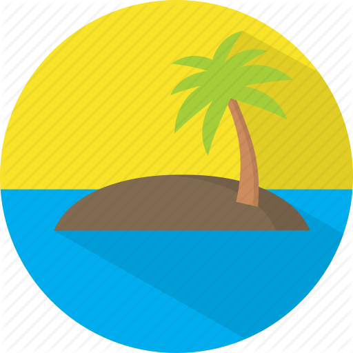 Island, Travel, Vacation Icon