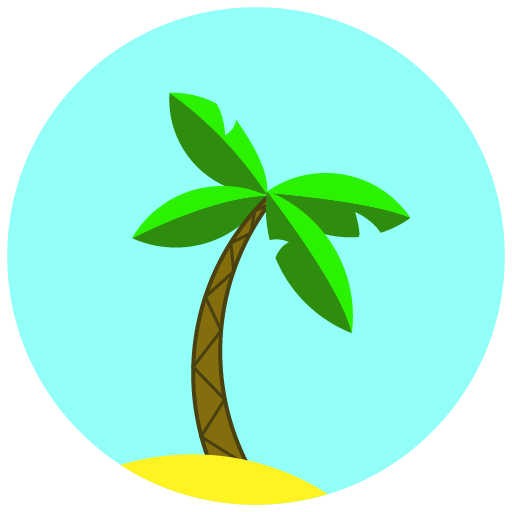 Travel, Palm, Vacation Icon