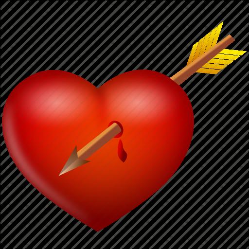 Arrow, Heart, Love, Valentine, Valentine's Day Icon