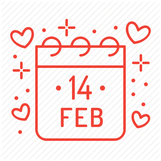 Calendar, Day, February, Valentine, Valentine's Day Icon