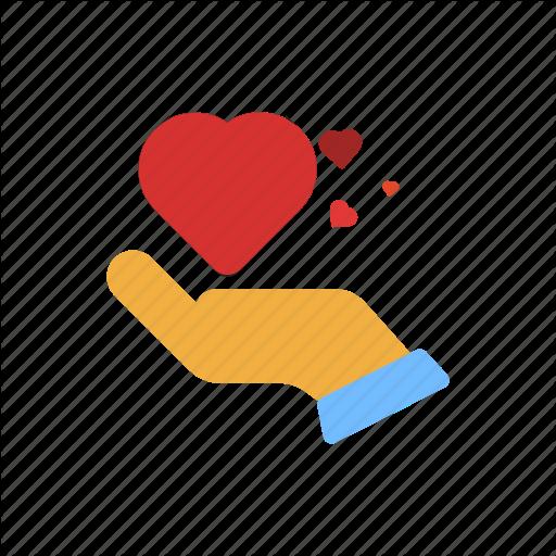 Hand, Heart, Love, Man, Share, Valentine, Valentine's Day Icon