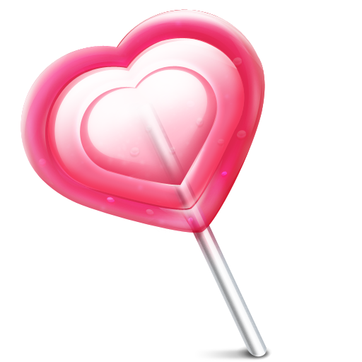 Love Heart Lolly Icon Valentines Day Iconset Miniartx