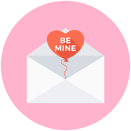 Love, Letter, Be Mine, Valentines Day Icon Free Of Valentines