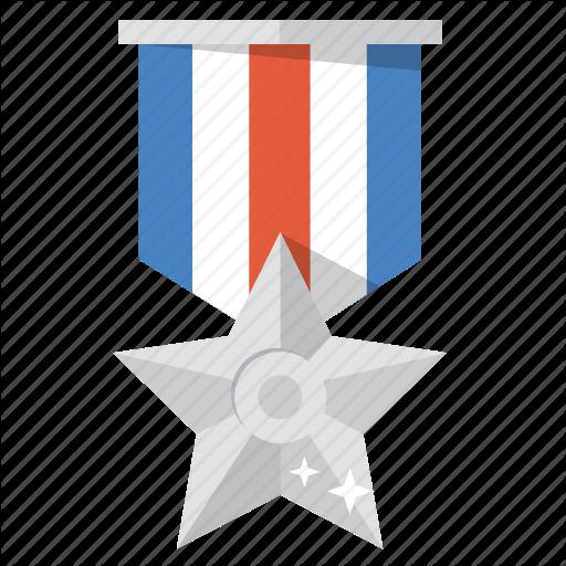 Award, Medal, Silver, Silver Star, Star, Trophy, Valor Icon