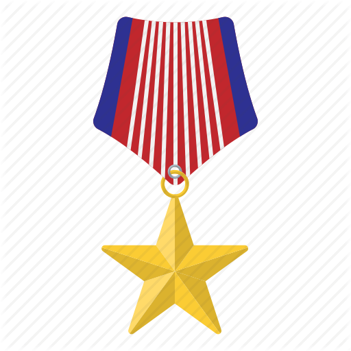 Brave, Clipping, Heart, Medal, Path, Star, Valor Icon
