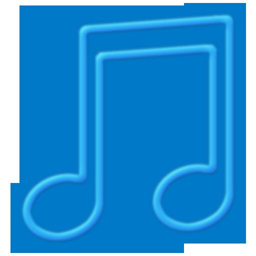 Toolbar Music Blue Icon