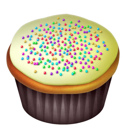 Cake, Food, Vanilla Icon