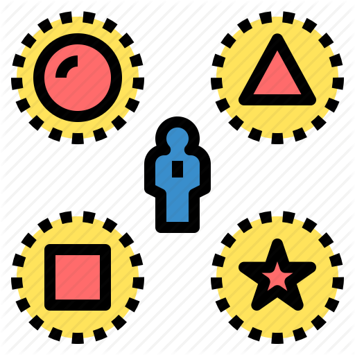 Choose, Design, Difference, Diversity, Geometry, Shape, Variety Icon