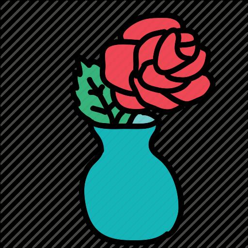 Decorate, Flower, Furniture, Interior, Rose, Vase Icon