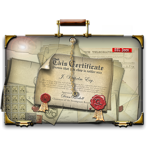 Steampunk Ssl Certificate Folder Icon Old Time