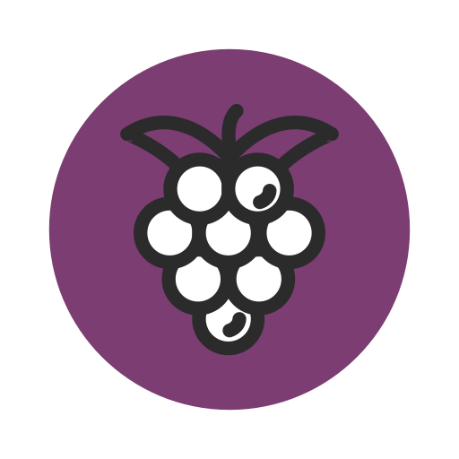Fresh, Fruit, Grape, Healthy, Purple, Vegetable Icon Free Of Fruit