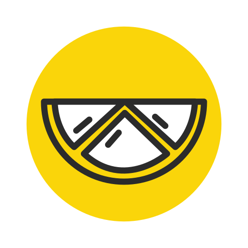 Fruit, Lemon, Slice, Vegetable, Vegetarian Icon Free Of Fruit